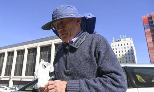 David Eastman bên ngoài Tòa án Tối cao ACT, Canberra, Australia, hồi đầu tháng này. Ảnh: AAP.