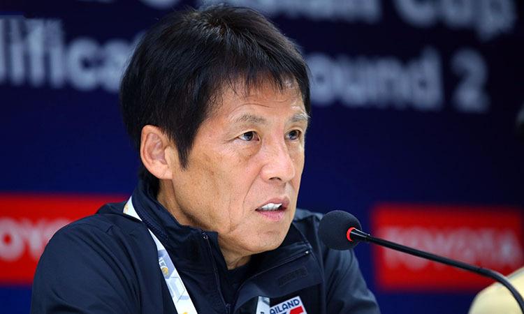 HLV Nishino tự tin vào khả năng của Thái Lan. Ảnh: Changsuek.