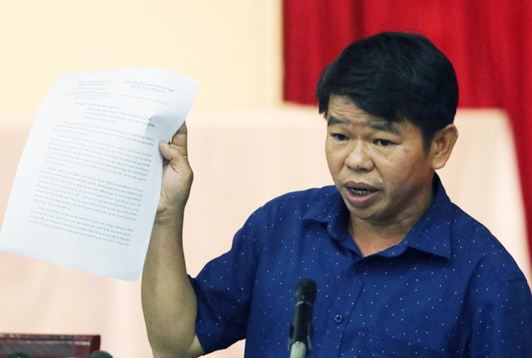 Ông Nguyễn Văn Tốn, Tổng giám đốc Công ty cổ phần nước sạch sông Đà. Ảnh: Võ Hải