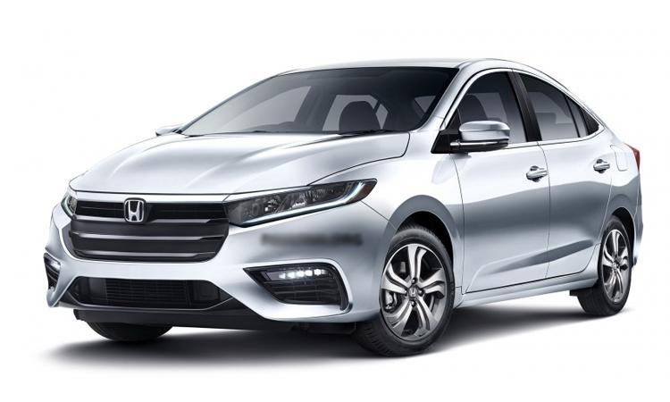 Honda City thế hệ mới theo hình dung của Paultan. Đèn pha dài và thon hơn thế hệ hiện hành.