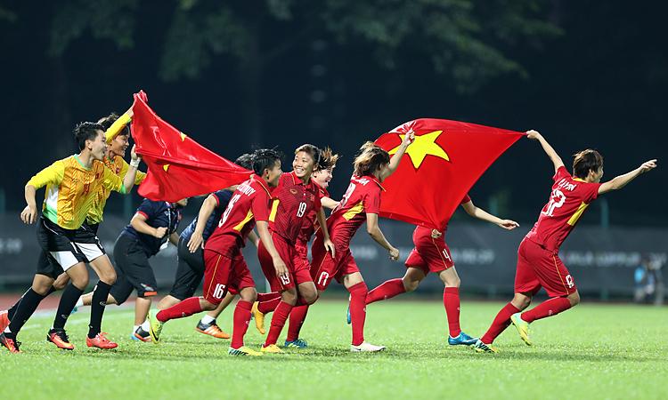 Việt Nam đặt mục tiêu bảo vệ HC vàng bóng đá nữ SEA Games. Ảnh: Đức Đồng.