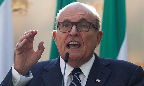 Rudy Giuliani phát biểu tại New York ngày 24/9. Ảnh: Reuters.