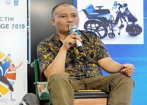 Anh Lê Huy Tích trong ngày nhận giải SDG Challenge 2019.