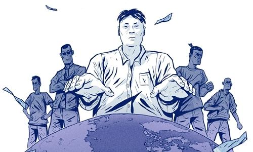 Tranh minh họa Tse Chi Lop và các tay sai. Ảnh: Reuters.