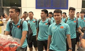 Tuyển Việt Nam về đến TP HCM