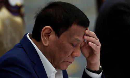 Tổng thống Philippines Rodrigo Duterte trong phiên họp tại Hội nghị thượng đỉnh ASEAN tại Bangkok, Thái Lan hôm 22/6. Ảnh: Reuters.