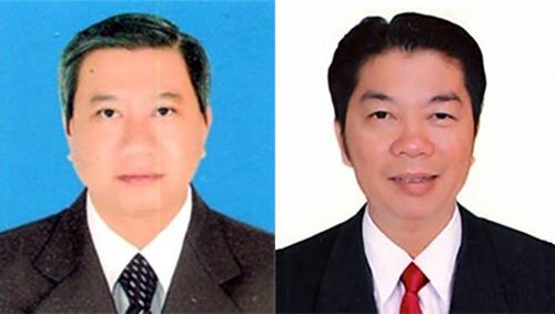 Chủ tịch quận Bình Thủy Lê Tâm Niệm (trái) và Phó chủ tịch Nguyễn Văn Tuấn. Ảnh: Cantho.gov.vn.
