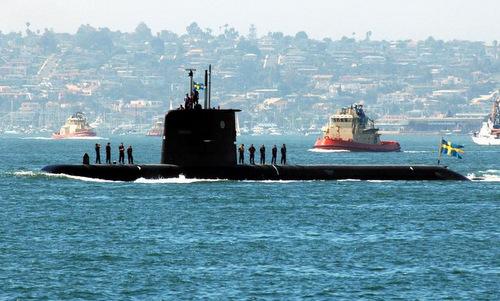 Tàu ngầm lớp lớp Södermanland của Thụy Điển. Ảnh: National Interest.