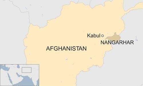 Vị trí tỉnh Nangarhar, Afghanistan. Đồ họa: BBC.