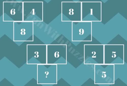 Tìm quy luật của năm câu đố toán học