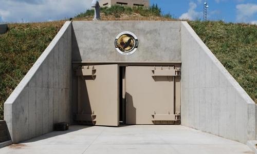 Lối vào hầm trú ẩn Survival Condo tại Kansas,Mỹ. Ảnh:Survival Condo Project.