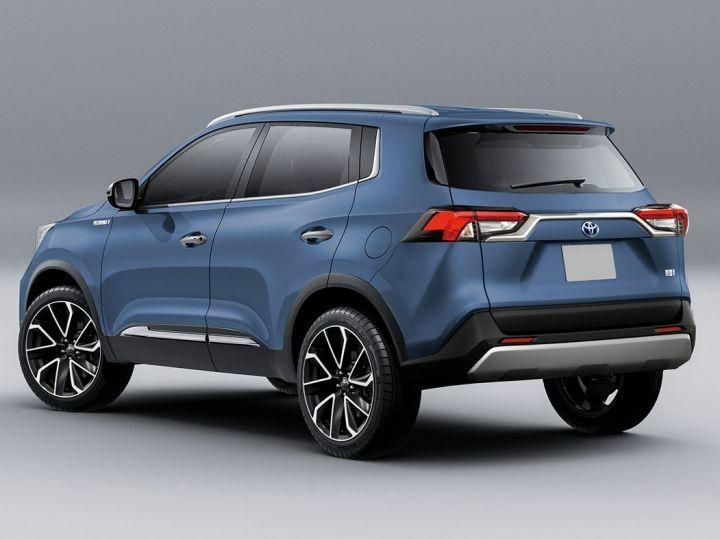 Thiết kế Toyota Rise nhìn từ phía sau.