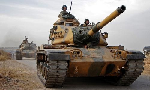 Lực lượng Thổ Nhĩ Kỳ tại miền bắc Syria hôm 16/10. Ảnh: AFP.