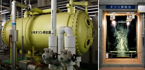 Máy sục ozone ở nhà máy Misono. Ảnh: Nippon.