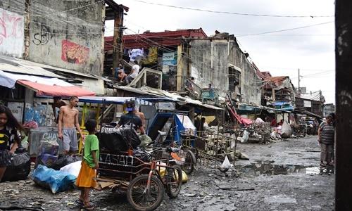 Một khu ổ chuột ở thủ đô Manila, Philippines. Ảnh: Channel News Asia.