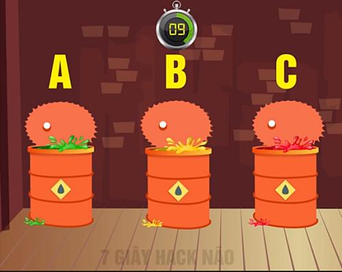 Đứa bé nên chọn thùng nào để có thể sống sót?