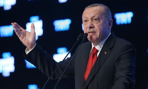 Tổng thống Recep Tayyip Erdogan phát biểu tại một sự kiện ởIstanbul,  Thổ Nhĩ Kỳ hôm nay. Ảnh: Reuters.
