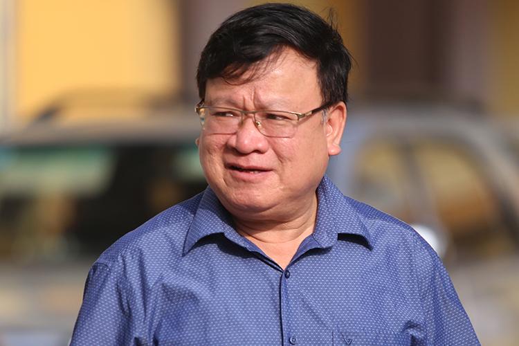 Ông Lê Văn Thời tại tòa án Sơn La hôm 17/10. Ảnh: Phạm Dự