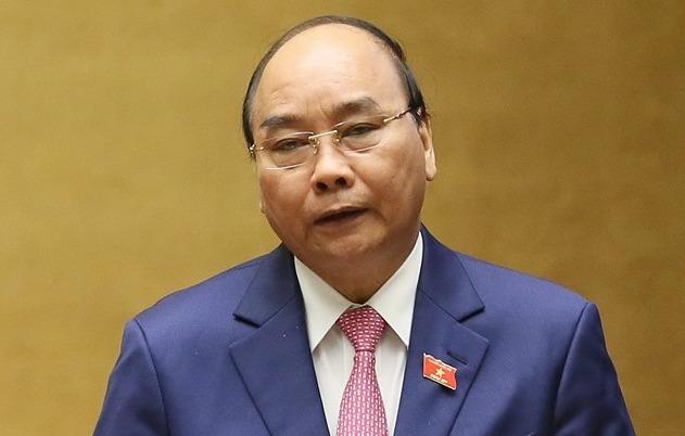 Thủ tướng Nguyễn Xuân Phúc phát biểu trước Quốc hội sáng 21/10. Ảnh: G.H