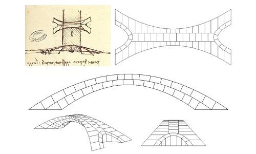 Bản phác thảo cầu của da Vinci. Ảnh: CNN.
