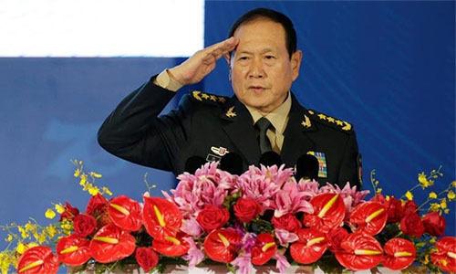 Bộ trưởng Quốc phòng Trung Quốc Ngụy Phượng Hòa tại lễ khai mạc Diễn đàn Hương Sơn lần thứ 9 tạiBắc Kinh ngày 21/10. Ảnh: Reuters.