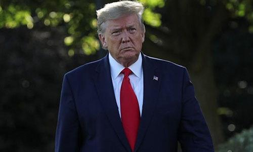 Tổng thống Mỹ Trump tại Nhà Trắng ngày 10/10. Ảnh: Reuters.