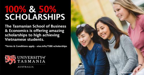 Đại học Tasmania dành 2 suất học bổng cho học sinh Việt Nam - 1