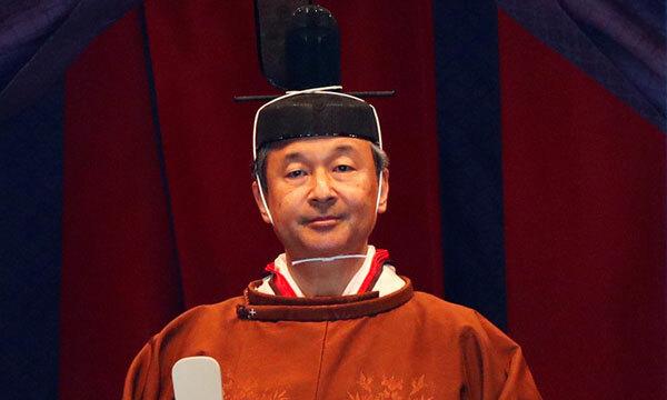 Nhật hoàng Naruhito tại lễ đăng quang. Ảnh: Reuters.