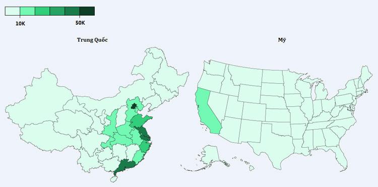 Số trạm sạc xe điện công cộng của Trung Quốc nhiều gấp 8 lần của Mỹ.