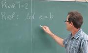 Thầy giáo chứng minh phép toán 1 = 2