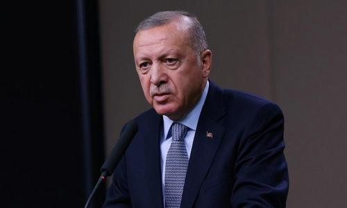 Tổng thống Erdogan phát biểu trước báo giới tại Ankara hôm 22/10. Ảnh: Reuters.