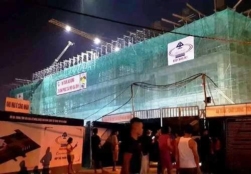 Công trình Trung tâm Văn hóa xứ Đông tại TP Hải Dương đang trong quá trình thi công. Ảnh: GC.