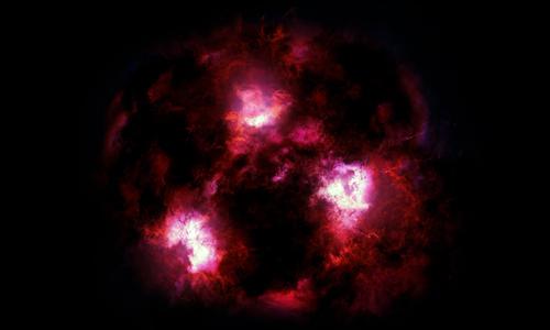 Những ngôi sao mới hình thành trong thiên hàkhiến đám mây khí bụi xung quanh sáng lên. Ảnh: CNN.