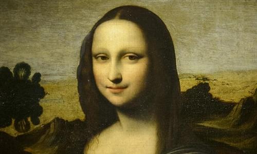 Bức Mona Lisa cũ được công bố tại Thụy Sĩ năm 2012. Ảnh: AFP.