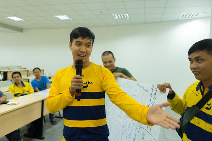 Cũng trong khoá học, các tài xế được dịp tham gia các hoạt động theo nhóm, giúp xây dựng tinh thần đồng đội.