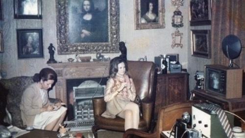 Bức Mona Lisa cũ được treo tại căn hộ của Pulitzer những năm 1960. Ảnh: Gia đình Gilbert.