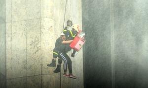 Tòa nhà cao nhất Việt Nam lần đầu diễn tập chữa cháy