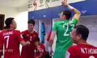 Video cầu thủ Viá»t Nam nhảy múa Än mừng trong phòng thay Äá»