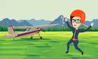 Tại sao ngÆ°á»i phụ nữ vẫn an toàn khi nhảy ra khá»i máy bay?