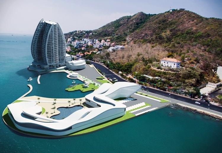 Tỉnh Bà Rịa - Vũng Tàu không đồng ý chủ đầu tưxây khách sạn cao tầng khi tiếp tục dự án. Ảnh: Công ty cổ phần cáp treo Vũng Tàu.