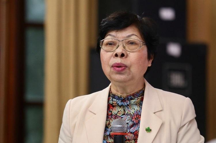 GS.TS Vũ Thị Vinh phát biểu tại hội thảo. Ảnh: Gia Chính