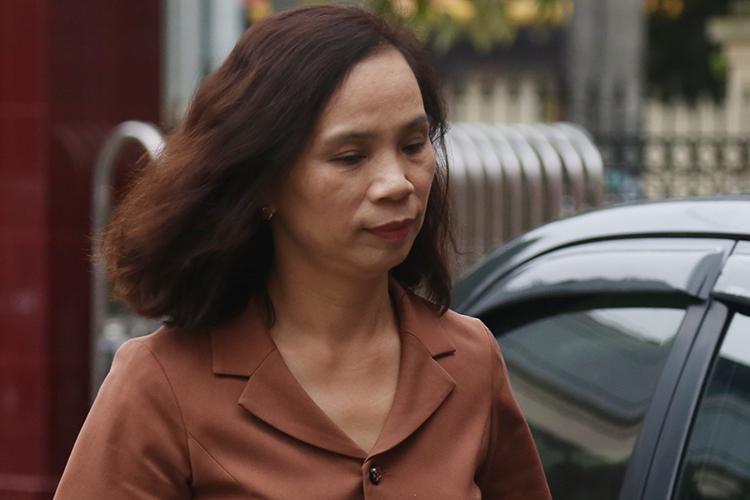 Bà Triệu Thị Chính tại tòa án trong ngày 25/10. Ảnh: Phạm Dự