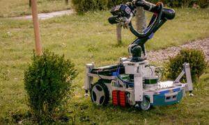 Robot làm vườn tự động tỉa cây và cắt cỏ