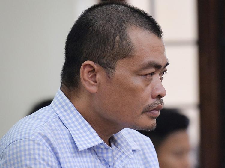 Bị cáo Nguyễn Thanh Hoài nghe tuyên án.Ảnh: Phạm Dự.