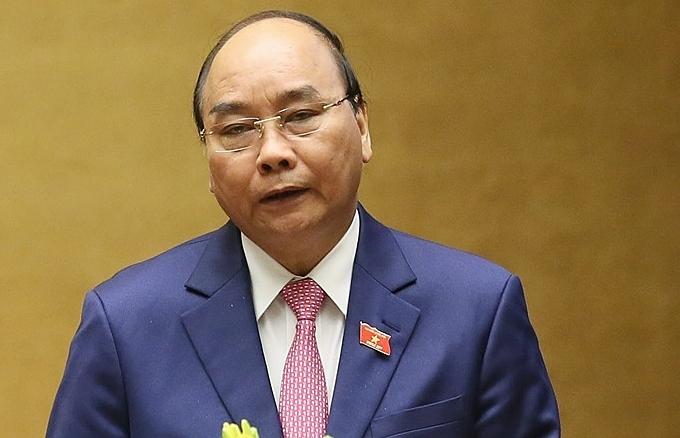 Thủ tướng Nguyễn Xuân Phúc phát biểu tại phiên khai mạc kỳ họp Quốc hội thứ 8. Ảnh: VGP