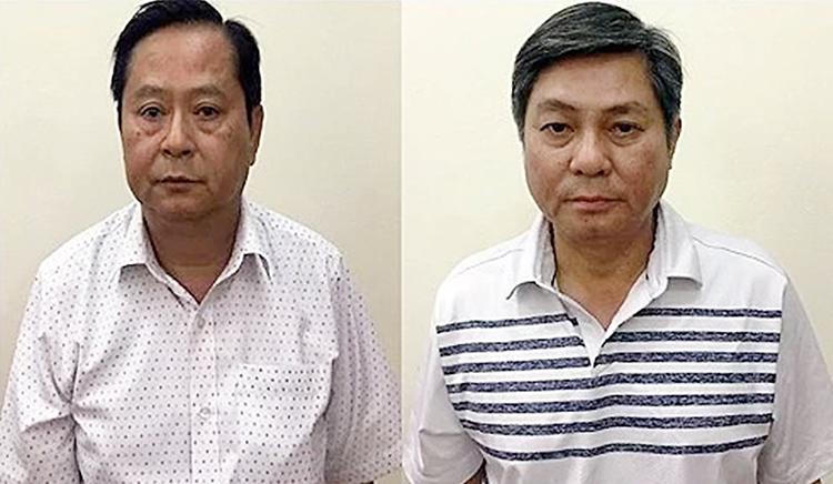 Ông Tín và ông Kiệt lúc bị bắt. Ảnh: Bộ Công an.