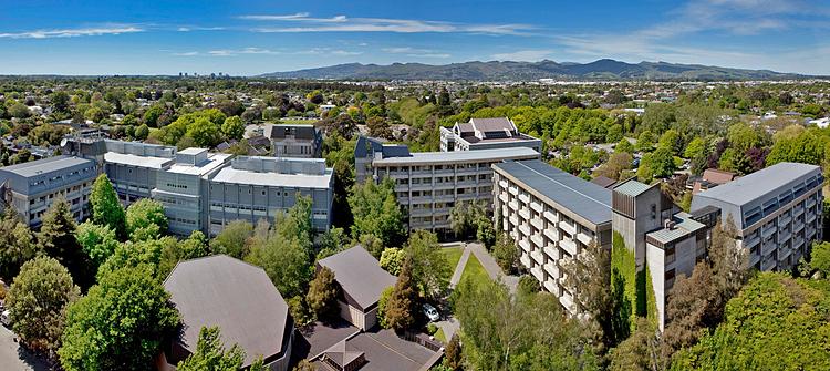 Toàn cảnh Đại học Canterbury, New Zealand. Ảnh: University of Canterbury