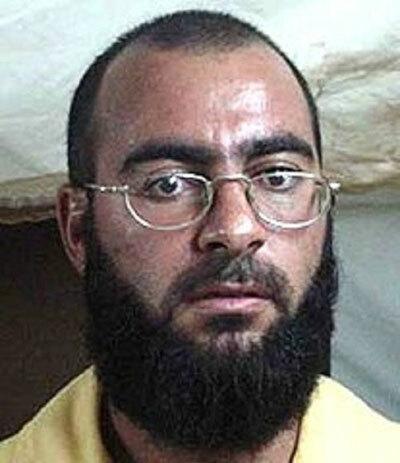 Ảnh chân dung Baghdadi khi bị giam tại nhà tù Camp Bucca năm 2004. Ảnh: The Times of Israel.