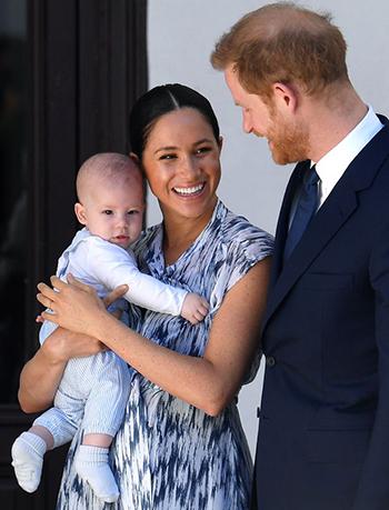 Vợ chồng Harry, Meghan và con trai Archive. Ảnh: Mirror