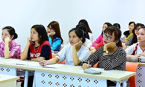Các giảng đường mới ở Đại học Kinh tế quốc dân đủ đáp ứng việc thực hiện đề án đào tạo tiếng Anh. Ảnh: Giang Huy
